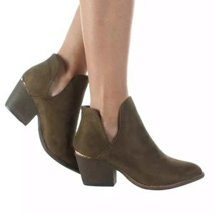 Shoes - Olive booties